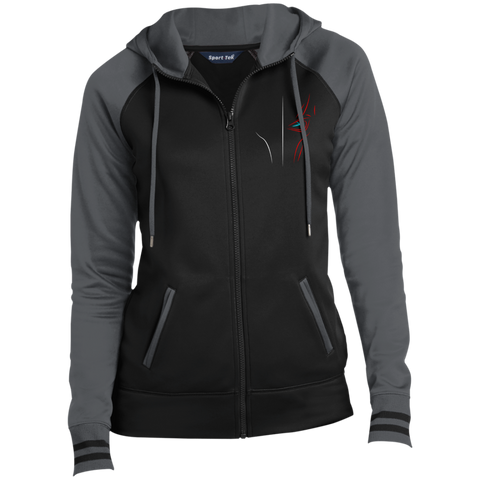 M8TRIXGames | Street Gear | Embroidered Ladies' Moisture Wick Full-Zip Hooded Jacket