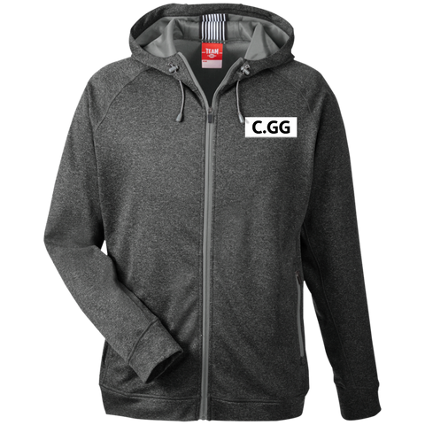 ClashGG | Street Gear | Embroidered Men's Heathered Performance Hooded Jacket