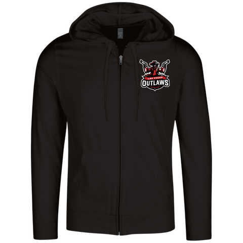 Las Vegas Outlaws | Street Gear | Embroidered Lightweight Full Zip Hoodie