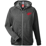 North Central College | Street Gear | Embroidered Men's Heathered Performance Hooded Jacket