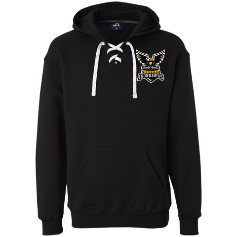 Pittsburgh Ironhawks | Street Gear | Embroidered Heavyweight Sport Lace Hoodie