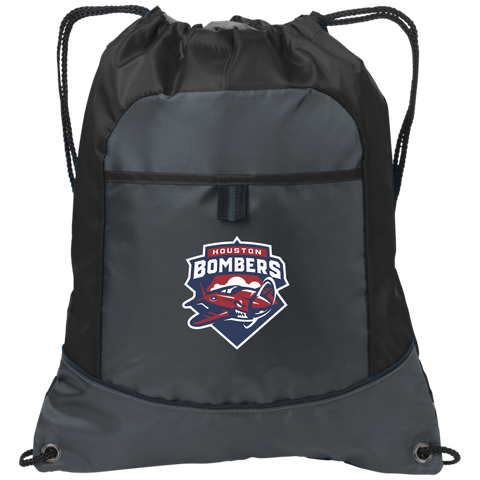 Houston Bombers | Street Gear | Embroidered Pocket Cinch Pack