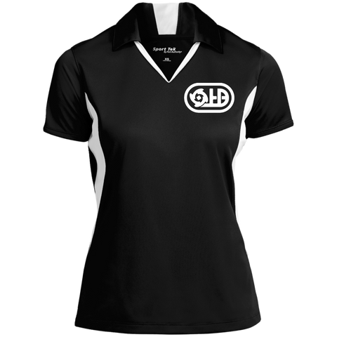 Hyperspace Dark | Street Gear | Embroidered Ladies' Colorblock Performance Polo