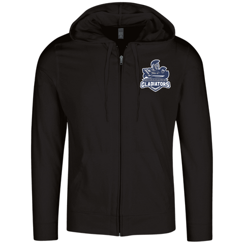 Indianapolis Gladiators | Street Gear | Embroidered Lightweight Full Zip Hoodie