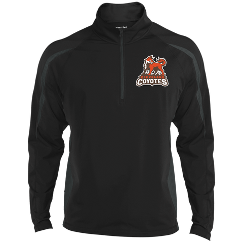 Cleveland Coyotes | Street Gear | Embroidered Sport Wicking Colorblock 1/2 Zip