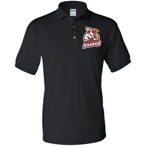San Francisco Sharks | Street Gear | Embroidered Jersey Polo Shirt