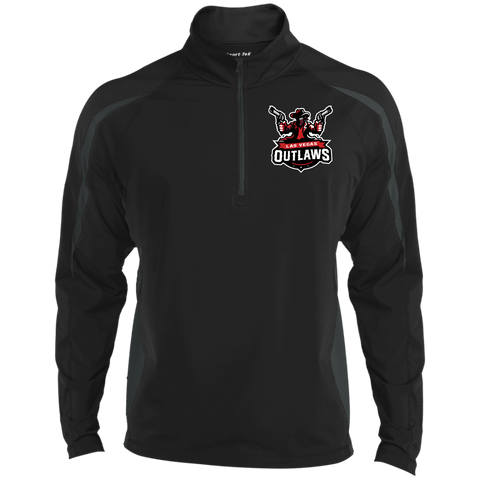 Las Vegas Outlaws | Street Gear | Embroidered Sport Wicking Colorblock 1/2 Zip
