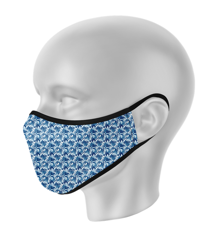 Blue Wave Face Mask