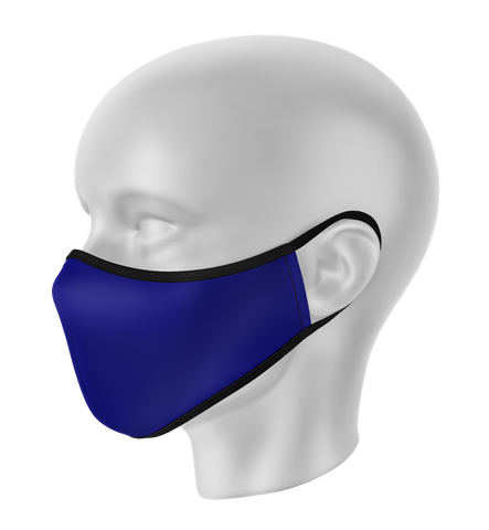 Scrubs Navy Blue Face Mask