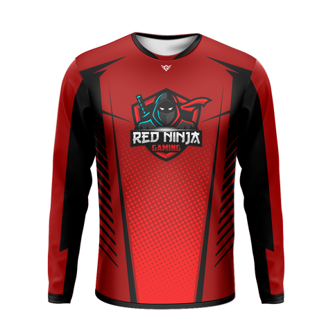 Red Ninja Gaming Long Sleeve