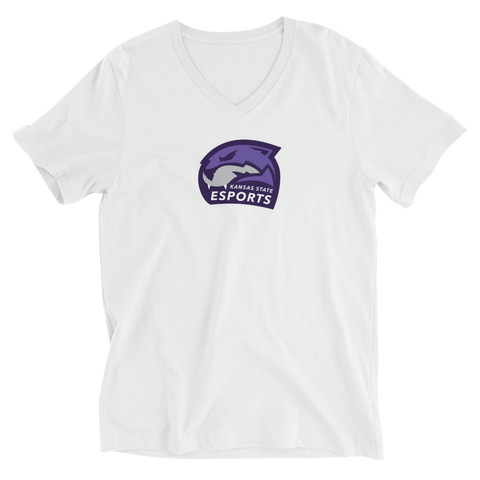 Esports Club at Kansas State University | Street Gear | Unisex Short Sleeve V-Neck T-Shirt