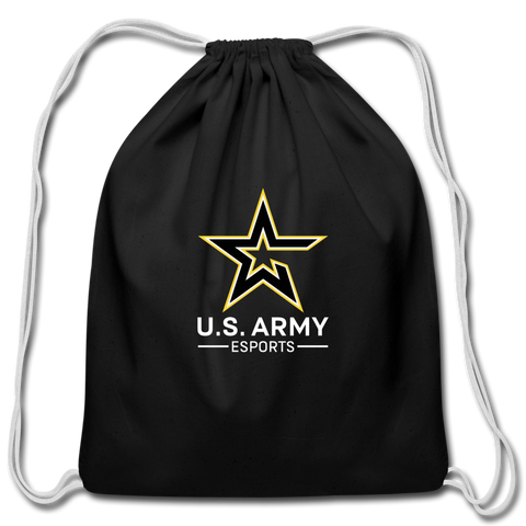 U.S. Army Esports | Street Gear | Cotton Drawstring Bag - black