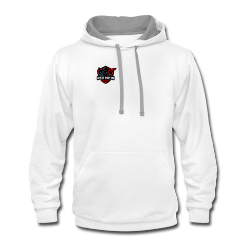 Red Ninja Gaming | Street Gear | DTG Unisex Contrast Hoodie - white/gray