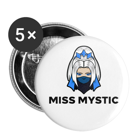 Miss Mystic | Street Gear | Small Buttons (5 Pack) - white