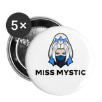 Miss Mystic | Street Gear | Large Buttons (5 Pack) - white