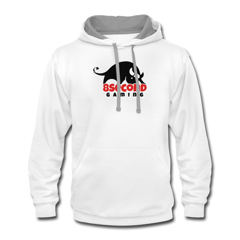 8Second Gaming | Street Gear | DTG Unisex Contrast Hoodie - white/gray