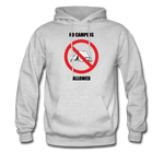 No Campers Allowed | Gamer Gear | DTG Unisex Hoodie - ash