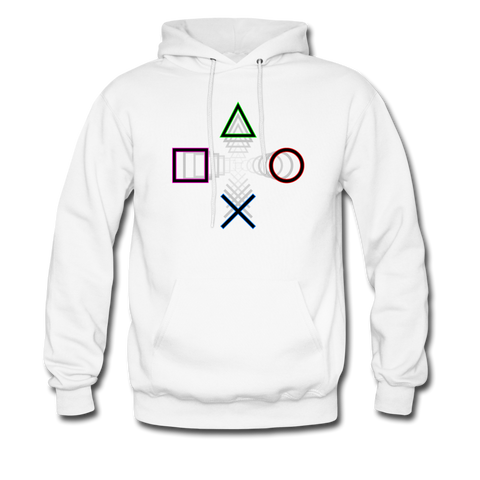 PlayStation Buttons | Gamer Gear | DTG Unisex Hoodie - white