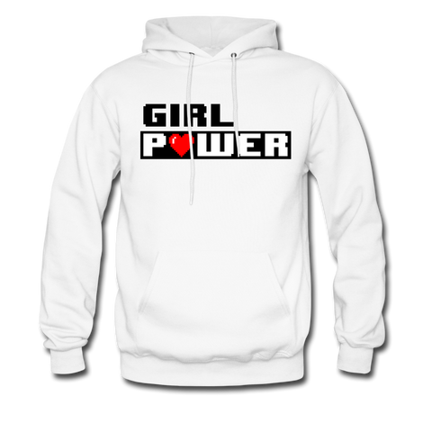 Girl Power | Gamer Gear | DTG Unisex Hoodie - white