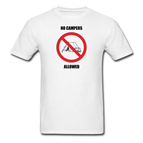 No Campers Allowed | Gamer Gear | DTG Unisex Classic T-Shirt - white