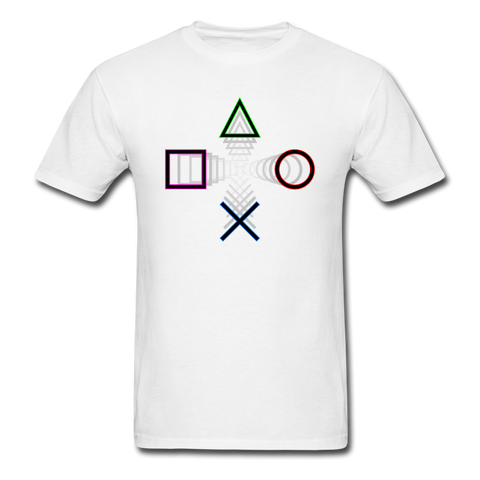 PlayStation Buttons | Gamer Gear | DTG Unisex Classic T-Shirt - white