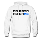 No Pain No Game | Gamer Gear | DTG Unisex Hoodie - white