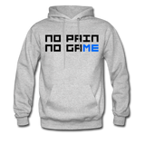 No Pain No Game | Gamer Gear | DTG Unisex Hoodie - heather gray