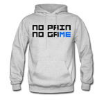 No Pain No Game | Gamer Gear | DTG Unisex Hoodie - ash