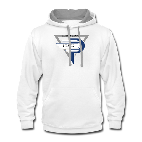 Esports at Penn State Altoona | Street Gear | DTG Unisex Contrast Hoodie - white/gray