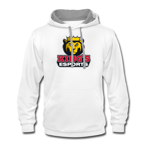 King's Esports | Street Gear | DTG Unisex Contrast Hoodie - white/gray