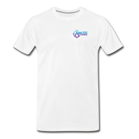 Aimless Gaming | Street Gear | DTG Men's Premium T-Shirt - white