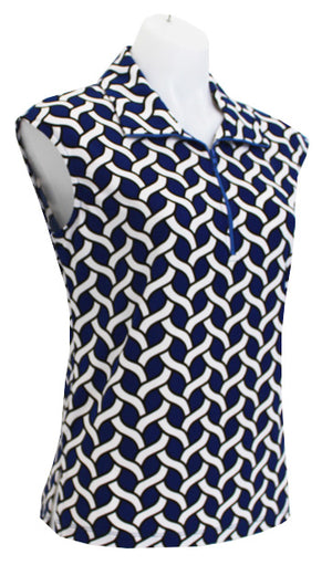 COBALT CHAINS - CAPPED SLEEVE DESIGNER POLO