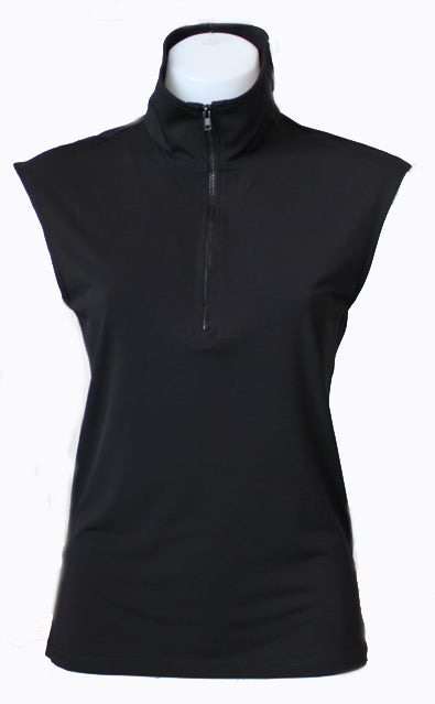 BLACK CAPPED POLO