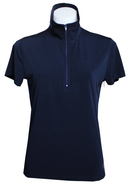 NAVY EXTENDED CAPPED POLO