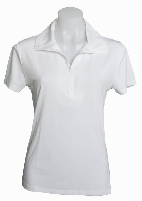 WHITE EXTENDED CAPPED POLO