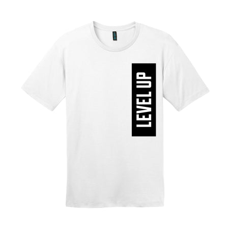 LEVEL UP BOLD STATEMENT TEE, WHITE
