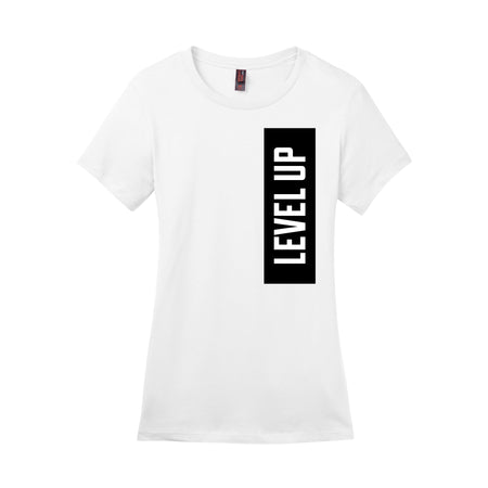 WOMEN'S LEVEL UP BOLD STATEMENT TEE, WHITE