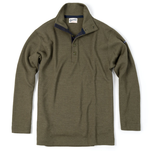 Blaatrøie Button Neck, Olive