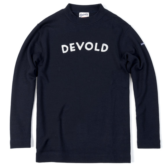 Blaatrøie Crew Neck, Navy w/ Chainstitch Embroidery
