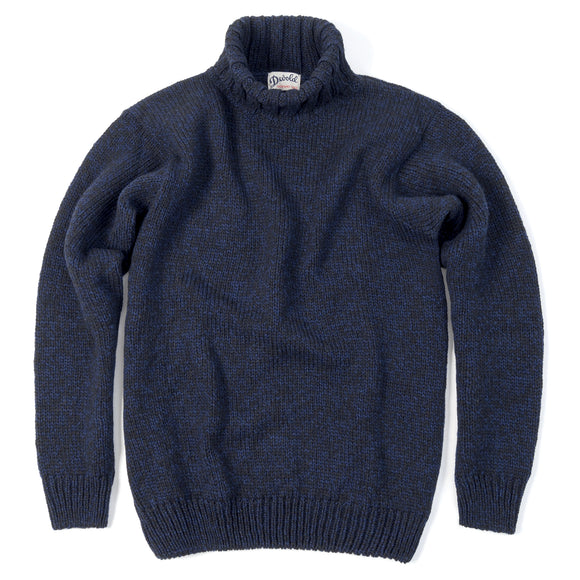 Nansen High Neck, Navy Melange