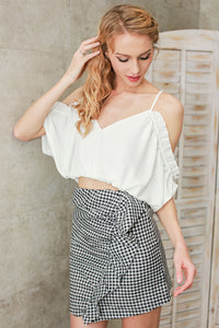''Summer Romance'' cold shoulder cropped blouse