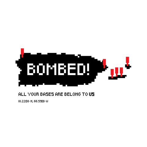 Bombed! (sticker)