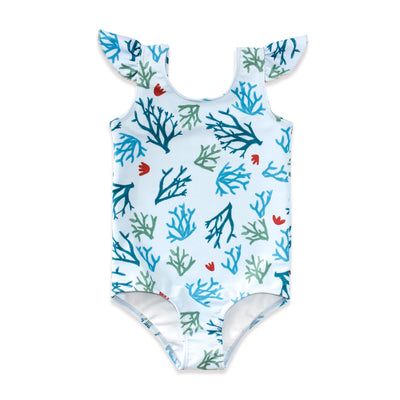Beach Greens Flutter One Piece