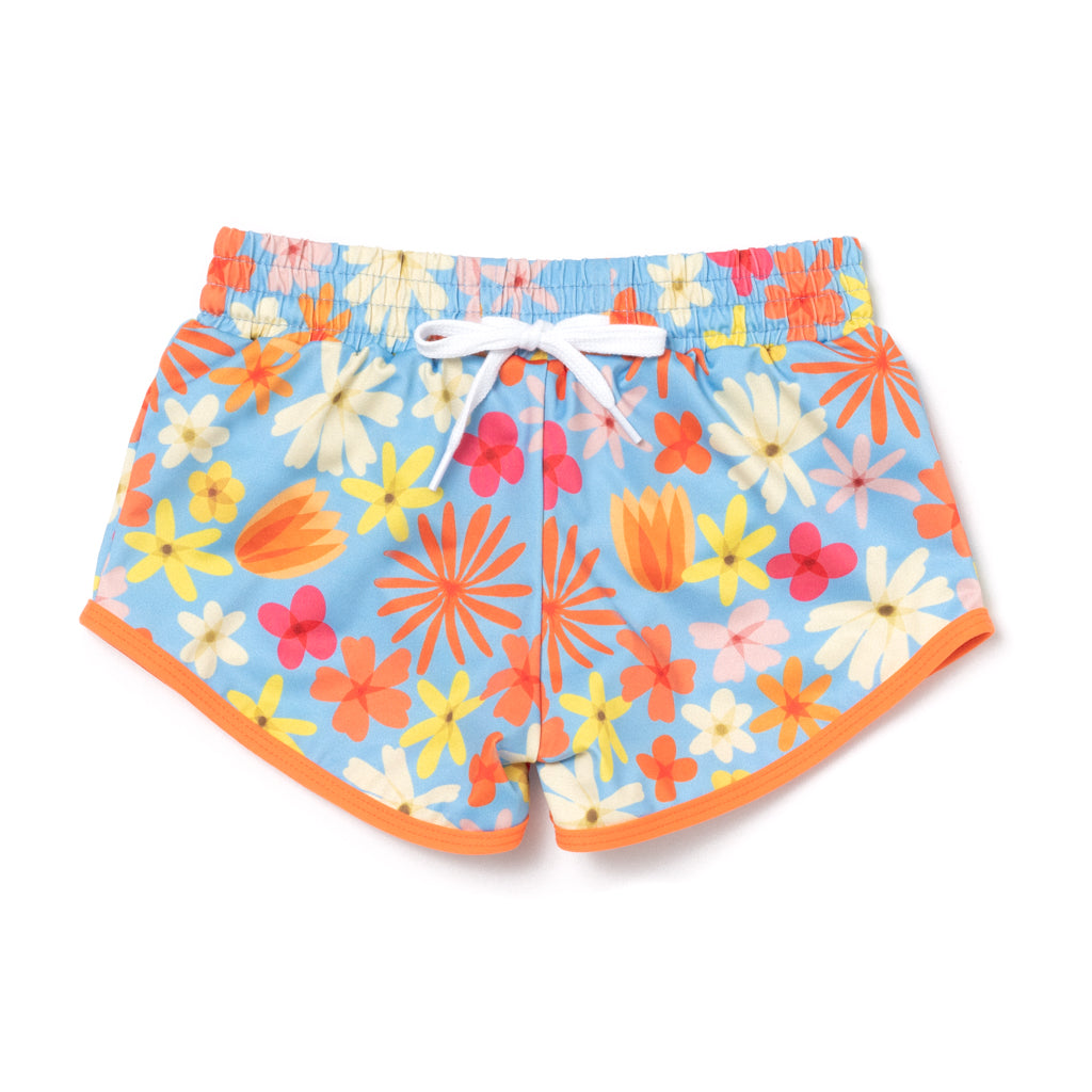 70s Floral Drawstring Trunks