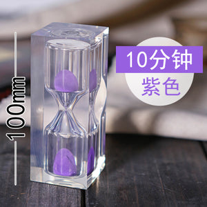1pc 10 Minute Hourglass Timer Creative Home Decorations Sand Clock Timer Kids