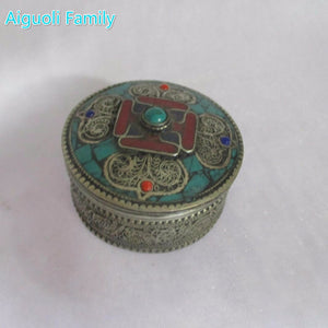 collection tibet silver jewelry box/Home decoration storage box from tibetan