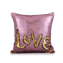 GIANTEX DIY Two Tone Glitter Sequins Square Sofa Cushion Cover Decorative Pillowcase Home Decor Throw Pillow Cover 40x40cm U1212