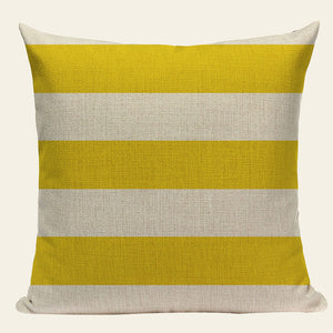 Chevron Yellow Linen Cotton Geometry Decor Throw Pillows Case Linen for Sofa Car Cotton Cushion Cover Creative Decoration Custom