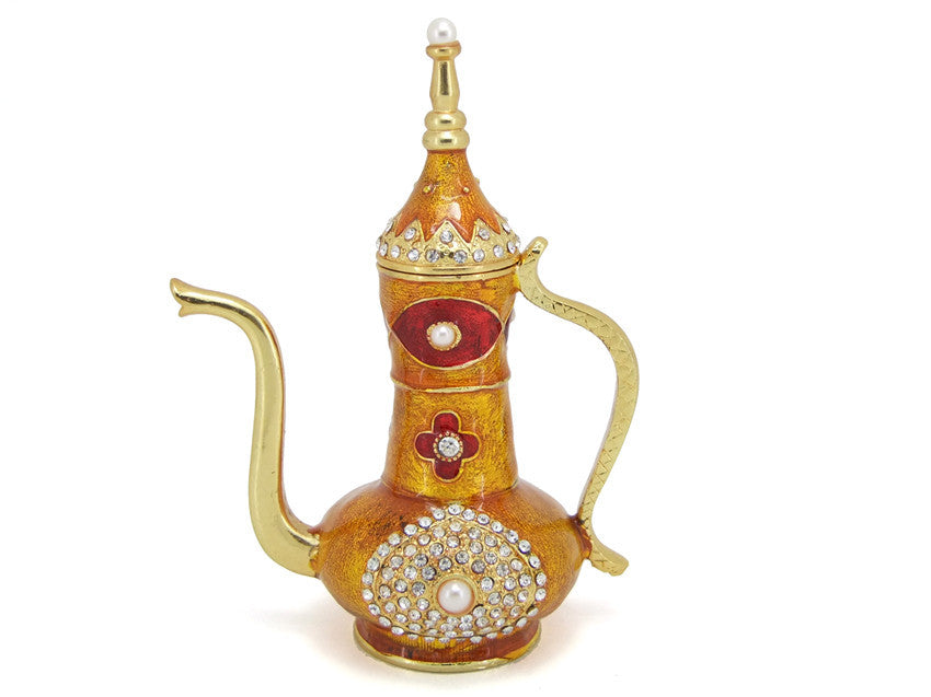 QIFU 2017 Alibaba Express Charming Teapot  Lamp metal home decor jewelry boxes