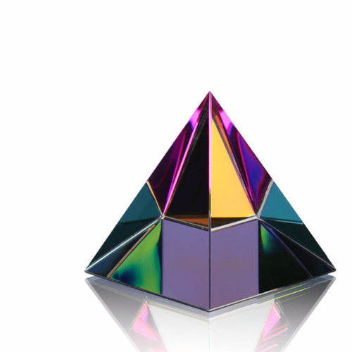 H&D 2'' Egypt Egyptian Crystal Pyramid Paperweight in Gift BOX Energy Healing Feng Shui with Free Crystal Wipes Home Decor